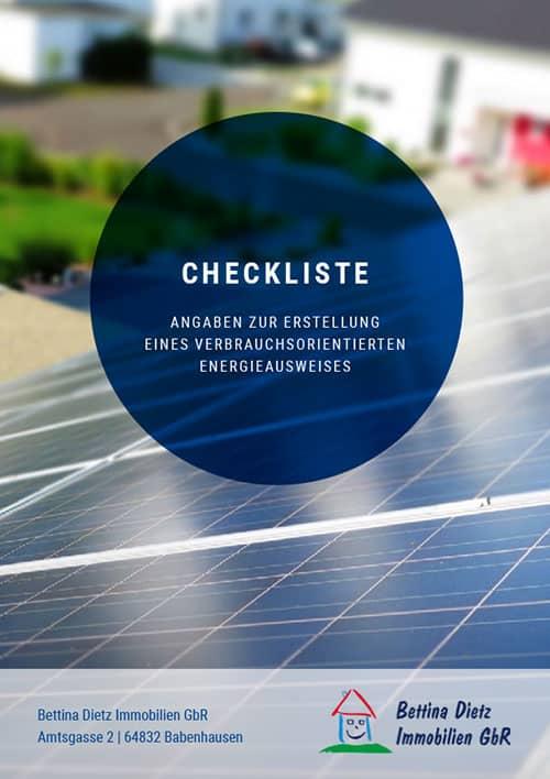 Checkliste Angaben zu Erstellung eines verbrauchsorientierten Energieausweises
