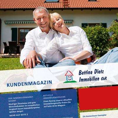 Titelseite der Ausgabe 4 des Immobilienmagazins von Bettina Dietz Immobilien