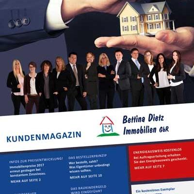 Titelseite der Ausgabe 7 des Immobilienmagazins von Bettina Dietz Immobilien