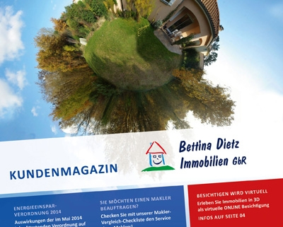 Titelseite der Ausgabe 5 des Immobilienmagazins von Bettina Dietz Immobilien