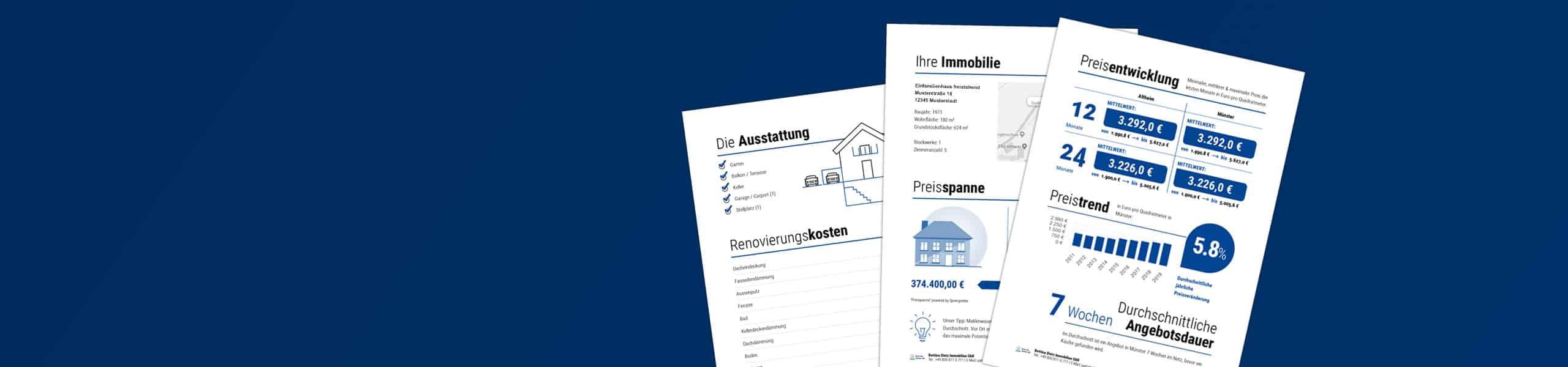 Online-Sofort-Wertanalyse ihrer Immobilie in nur 5min. Einfach Daten ihrer Immobilie eingeben und Wert erhalten!