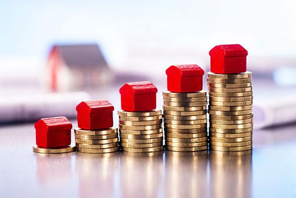 Bild das die Wertsteigerung von Immobilien illustriert.