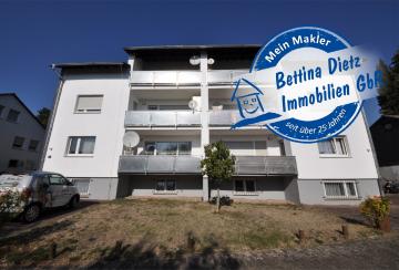 DIETZ: Provisionsfreie, vermietete 3-Zimmer-Erdgeschosswohnung mit Balkon, 64354 Reinheim, Etagenwohnung