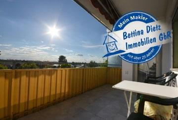 DIETZ: 3 Zimmer Wohnung mit überdachtem SÜD-Balkon – Tageslichtbad mit Badewanne, 64823 Groß-Umstadt, Etagenwohnung