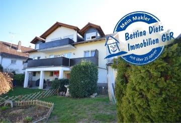 DIETZ: Ideale Kapitalanlage – 2 Häuser mit 3 Wohnungen + Gewerbefläche  (weiterer Ausbau möglich), 64859 Eppertshausen, Mehrfamilienhaus