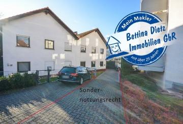 DIETZ: 3-4 Zimmer Erdgeschoss- / Terrassen- / Gartenwohnung mit EBK, Kamin, uvm.!, 64832 Babenhausen, Terrassenwohnung