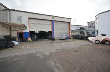 DIETZ: Autowerkstatthalle + Freifläche zu verkaufen! INVENTAR KOSTENFREI INKLUSIVE!, 64846 Groß-Zimmern, Prod./ Lager / Gewerbehallen