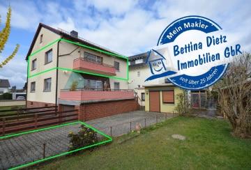 DIETZ: 3-4-Zimmer-Wohnung im Ober + Dachgeschoss im gepflegten Zweifamilienhaus!, 64846 Groß-Zimmern, Etagenwohnung