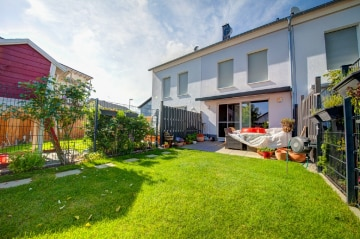 DIETZ: (FAST) neues Einfamilienhaus im Dieburger Norden mit EBK, Markise, 2 Bädern uvm!!, 64807 Dieburg, Reihenmittelhaus