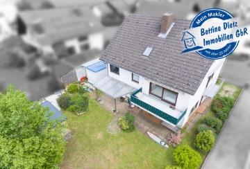 DIETZ: Großzügiges 1-2 Familienhaus mit Garten in Groß-Umstadt OT Semd!, 64823 Groß-Umstadt, Einfamilienhaus mit Einliegerwohnung