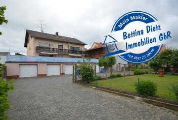 DIETZ: Großes 3-Familienhaus mit 6 Garagen und Nebengebäude in Groß-Umstadt – Raibach!, 64823 Groß-Umstadt, Mehrfamilienhaus