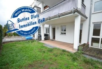 DIETZ: Renovierte 2-Zimmer-Terrassenwohnung mit kleinem Garten!, 64807 Dieburg, Terrassenwohnung