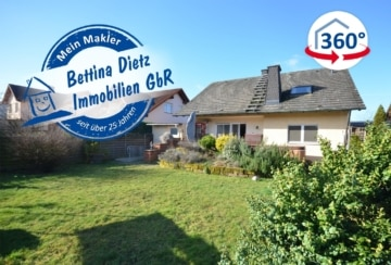 DIETZ: Großes Einfamilienhaus mit Keller, Garage und Garten in einer Familienwohnlage in Niedernberg, 63843 Niedernberg, Einfamilienhaus