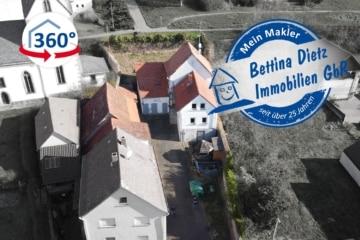 DIETZ: Modernisierungsbedürftiges Bauernhaus mit Nebengebäude, Innenhof und Garten!, 64850 Schaafheim, Einfamilienhaus