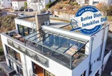 DIETZ: Haus im Haus! MEGA Penthouse-Maisonette-Wohnung mit Dachterrasse, Whirlpool und MEGA-Aussicht, 64850 Schaafheim, Penthouse