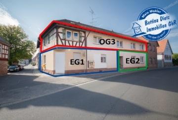 DIETZ: Mehrfamilienhaus mit großer Fläche und Erweiterungspotenzial!, 64850 Schaafheim, Mehrfamilienhaus