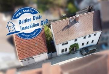 DIETZ: Sanierungsbedürftiges 1-2-Familienhaus mit KLASSE-Nebengebäude mitten in der Babenhäuser Altstadt!, 64832 Babenhausen, Einfamilienhaus