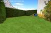 **VERMIETET**  Günstige und gepflegte Doppelhaushälfte mit Garage in fast zentraler Lage. ( mit 4 Schlafzimmern) - Blick in den Garten
