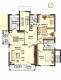 **VERMIETET**DIETZ: 4,5 Zimmerwohnung +2 Tageslichtbäder+2 Balkone+Garage inkl.+ 2 Außenstellplätze inkl. - 1. OG - Grundriss