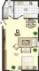 **VERMIETET**DIETZ: Große 1 Zimmer Souterrainwohnung mit Einbauküche und Kaminofen! - Grundriss