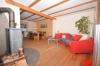 **VERMIETET**DIETZ: 1a sanierte, möblierte Doppelhaushälfte in Babenhausen - Feldrandnähe - großes Grundstück mit 2 Garagen! Opt. auch unmöbliert! - Wohnzimmer mit Holzofen