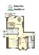 **VERMIETET**DIETZ: Feldrandlage Renovierte 3 Zimmer Erdgeschosswohnung 2 Balkone, GästeWC, Wanne+Dusche, Bj 1996 - Grundriss Erdgeschoss