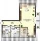 **VERMIETET**DIETZ: Top 1 Zimmerwohnung mit Balkon, Wanne, Dusche, Garten, Einbauküche - Grundriss Dachgeschoss