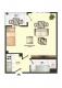 **VERMIETET**DIETZ: Neu-Renovierte 1-Zimmer-Wohnung mit Balkon im 10. Geschoss - Grundriss