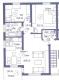 **Verkauft**Traumhafte 3 Zimmer Eigentumswohnung m. Balkon - Grundriss