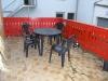 *Verkauft*  Doppelhaushälfte mit Nebengebäuden und Garten. - Ein Blick auf die Terrasse