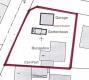 **VERKAUFT**  Immobilienrarität - grün - ruhig - zentral - in Groß Umstadt!!!   Schöner Winkelbungalow mit 2. Bauplatz - Lageplan