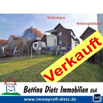 **VERKAUFT**DIETZ: Charmantes Mansardendachhaus mit Nebengebäude,  Garten und Vollkeller, 64354 Reinheim, Einfamilienhaus
