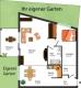 **VERKAUFT**DIETZ: 2 Zimmer ERDGESCHOSS WOHNUNG für NATURFREUNDE - Eigene Terrasse + Garten - Grundriss