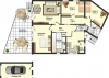 **VERKAUFT** DIETZ:  4 Zimmer Erdgeschosswohnung - Terrasse - Gartenanteil Wannenbad - Gäste-WC - Grundriss