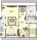 **VERKAUFT**DIETZ: 2-3 Zimmerwohnung mit SÜD-LOGGIA, modernem Tageslichtbad mit Wanne und KFZ-Stellplatz im 3 Fam.Haus - Grundriss Dachgeschoss