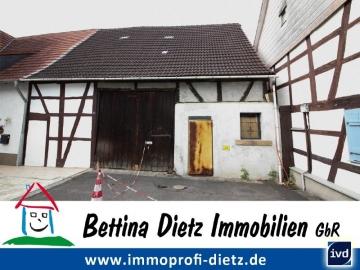 **VERKAUFT**DIETZ: Großzüzige Scheune zum Ausbau als Wohnhaus oder Lagern, Schrauben, Werkeln, 64354 Reinheim, Lager