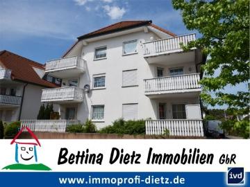 **VERKAUFT**DIETZ: Freiwerdende 3 Zimmer Dachgeschosswohnung mit 2 Balkonen – Eckwanne – G-WC, 64859 Eppertshausen, Dachgeschosswohnung