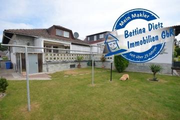 **VERKAUFT**DIETZ: GEPFLEGTES und Großzügiges Wohnhaus mit Riesen-Terrasse, Garten und Tiefgarage für 3 KFZ!!!, 64859 Eppertshausen, Einfamilienhaus