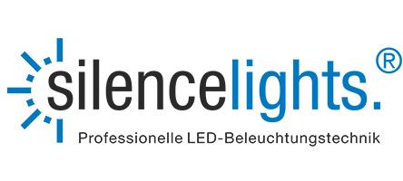 Logo des Unternehmens silencelights, dem Profiunternehmen in Sachen LED-Beleuchtungstechnik.
